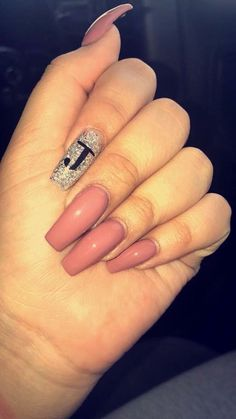 Acrylic Nails Nails Acrylic Boyfriend Initial Coffin Gel Colors