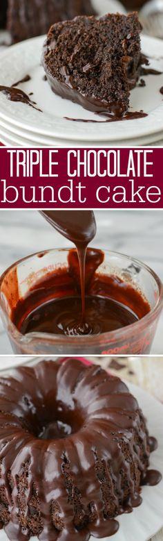 ... chocolate bundt cake triple chocolate bundt cake this easy cake recipe