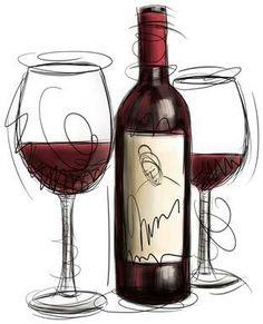 Wine clipart ....Cool! (Bottle Sketch Drinks)