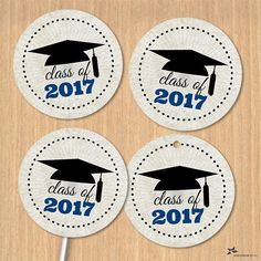 Graduation cupcake toppers red chalkboard 2018 chalkboards printable class of 2017 graduation cap 15 images blue instant download jpg for envelope seals stickers tags buttons cupcake toppers negle Gallery