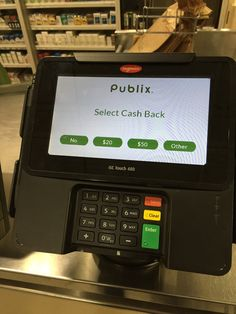 #Ingenico Group's iSC480 caught in action while checking out at Publix in Atlanta, GA. If you want to learn more about this device please visit our website: http://ingenico.us/smart-terminals/multi-lane-retail-terminals/isc-touch-480.html