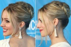 Jennifer Lawrence's Loosely Braided Updo - Do It Yourself - How to Get Hollywood's Best Hairstyles at Home - StyleBistro