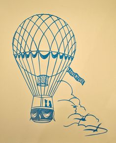 thinking of hot air balloons and weddings... cute combination.