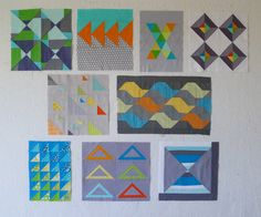 QuiltCon Block Challenge: Triangles « The Modern Quilt Guild
