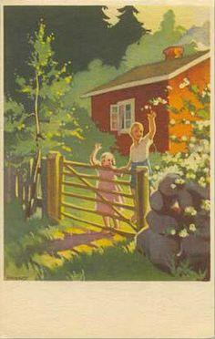 Martta Wendelin- Portti Art And Illustration, Illustrations And Posters, Vintage Illustrations, Christmas Art, Vintage Images, Game Art, Martini, Book Art, Artwork