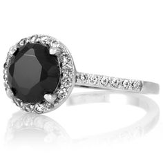 inset diamond rings | Emitations Faux Carrie's Black Diamond Ring - Petite - Inspired by Sex ...