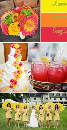 Lemon, Tangerine, and Sangria Inspiration Board