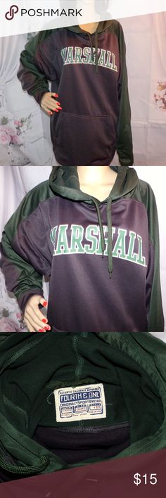 Marshall Hoodie Marshall University High-End XXL Marshall Hoodie Marshall University High-End Men's Size XXL. This is in Excellent condition and appears unused and unworn. This one cost like 60 dollars it's the polyester sleek and really nice. Made by Forth and one Originals Sportswear.  BUNDLE 2 or more of our items for a FAIRY SPECIAL PRICE and take advantage of POSH ONE Price BUNDLE SHIPPING Forth and One Shirts Sweatshirts & Hoodies