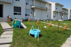 Yard decorations- blow up monkeys!
