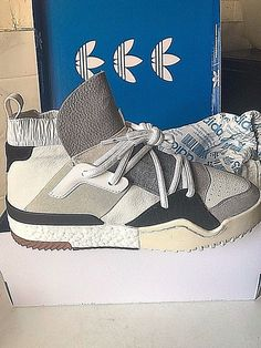 (UK 9) ADIDAS X ALEXANDER WANG AW BBALL SHOES WHITE US 9.5 RARE SOLD OUT #alexanderwangadidas #TrainersSneakersBBShoes