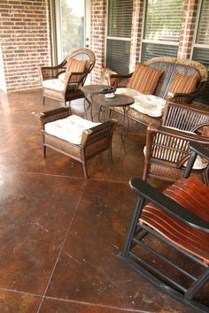 stained concrete - for the back patio area....