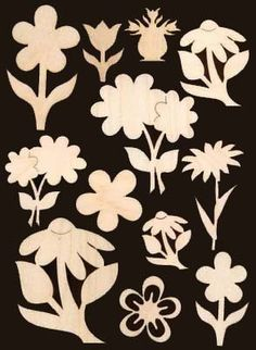 12 Flowers Assorted Sizes Natural Craft Wood Cutouts 909. $11.99, via Etsy.