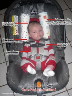 Correct infant car seat positioning