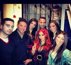 The Jersey Shore Cast at Katie Couric on December 12, 2012