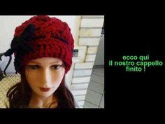 Basco francese all'uncinetto con coste e bordo CROCHET HAT - YouTube Knitted Hats, Crochet Hats, Coco Chanel, Winter Hats, Beanie, Youtube, Knitting, Fashion, Crochet Cap