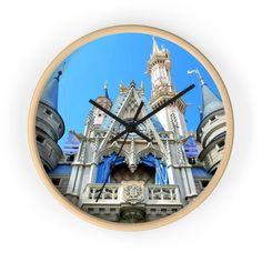 Castle Wall, Hand Coloring, My Etsy Shop, Clock, Disney, Decor, Watch, Decoration, Clocks