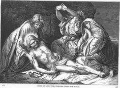 Alexandre Bida - Illustrations of the Life of Christ-Joseph of Arimathea prepares Christ for burial