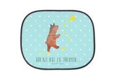 Auto Sonnenschutz Bär Träume aus Kunstfaser  Natur - Das Original von Mr. & Mrs. Panda.  Der einzigartige Sonnenschutz von Mr. & Mrs. Panda ist wirklich etwas ganz Besonderes - er hat die Größe 38x44 cm und wird mit zwei Saugnäpfen ausgeliefert. Im Lieferumfang ist ein Sonnenschutz inkl. 2 Saugnäpfen enthalten.    Über unser Motiv Bär Träume  Der Träume Bär ist ein ganz besonders liebevolles und einzigartiges Motiv aus der Beary Times Kollektion von Mr. & Mrs. Panda    Verwendete…