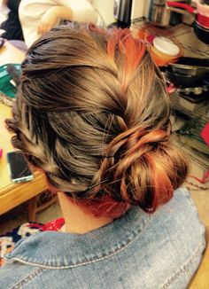 French braid combo updo