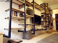 空間設計與裝潢 - 文青閨密的秘密小窩 - 居家討論區 - Mobile01行動版 Shelving, Divider, Room, Furniture, Home Decor, Bar Stand, Shelves, Bedroom, Decoration Home