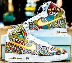 wholesale dealer 76b3a ff905 Nike Air Force Ones Hand Painted by Laolu