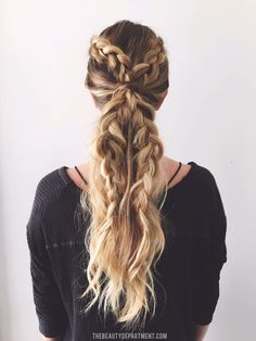 2 braids, 3 ways! (the pony)