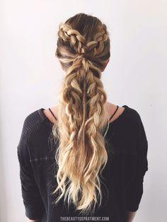 2 braids, 3 ways! (the pony)