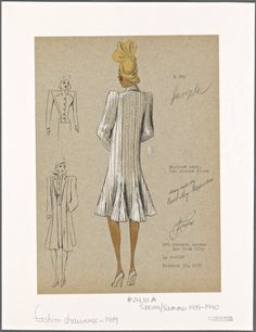Striped coat. From New York Public Library Digital Collections.