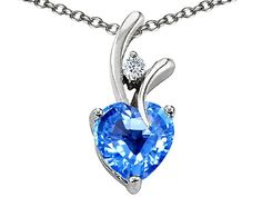 1.95 cttw Original Star K(tm) Genuine Heart Shaped Blue Topa