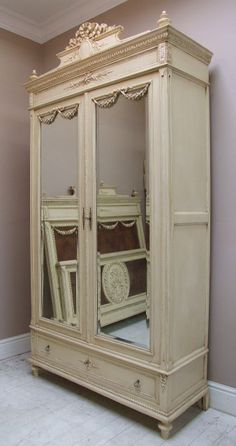 creamed mirrored armoire - this will happen someday!
