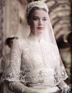 Grace Kelly - the ultimate wedding style icon for class and modest glamour. #PerfectMuslimWedding.com