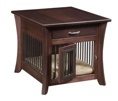 I *love* the shape of this, the color, and the size of the drawer. The only downside is it's too small for my dog. Amish Caledonia End Table with Slats