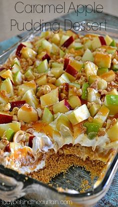 Caramel Apple Pudding Dessert from Lady Behind the Curtain