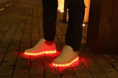 ACEVER USB Charging LED Lighted Luminous Couple Casual Shoes Womens LED Shoes LED Sneakers Christmas Cosplay ** You can discover more details at the web link of the image. (This is an affiliate link). Rave Shoes, Fiery Red, Red Led, Prom Party, Sports Shoes, Casual Shoes, Adidas Sneakers, Cosplay, Usb