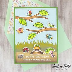 This project uses the A Bug Deal set by Lawn Fawn. Be sure to follow me on Instagram @justanotebyjustin for more crafty inspiration!