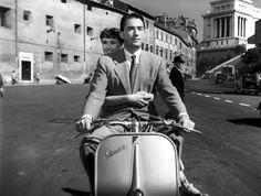 """Audrey Hepburn y Gregory Peck, """"Roman Holiday"""" (Vacaciones en Roma), 1953."""