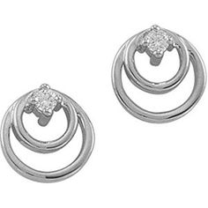 Pair of Platinum Diamond Earrings - 0.04 Ct. Gems-is-Me. $620.16. This item will be gift wrapped in a beautiful gift bag. In addition, a 'gift message' can be added.. FREE PRIORITY SHIPPING. Save 40% Off!