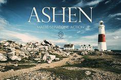 Ashen Photoshop Landscape Actions by Presetrain Co. on @creativemarket