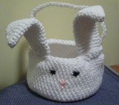 #crochet bunny basket