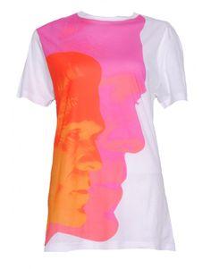 Christopher Kane Cotton Square Face Print T-shirt, front