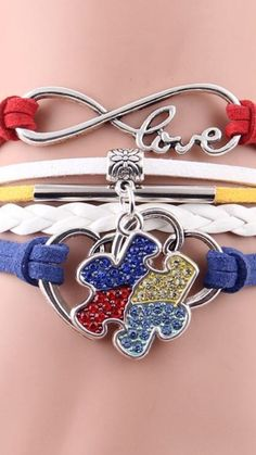 Autism Awareness Infinity Hope Bracelet - AUTISM AWARENESS MONTH IS IN APRIL #Na