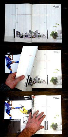 Interactive print campaign for Fujitsu Siemens.