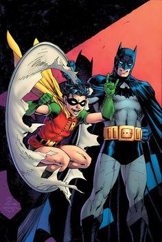 Robin Anniversary variant by Jim Lee, Scott Williams and Alex Sinclair (After Kane) & DC Comic Art Fans, Batman Comic Art, Batman Comics, Comic Books Art, Batman Artwork, Batman Poster, Batman Batman, Batman Arkham, Book Art