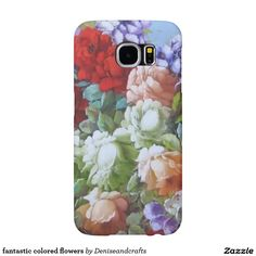 fantastic colored flowers samsung galaxy s6 cases