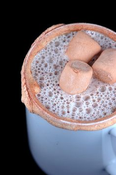Snickerdoodle Hot Cocoa (1 cup vanilla chips   1 ½ cups heavy cream  1 ½ cups milk  ¼ tsp. cream of tartar   ¼ tsp. ground cinnamon  Pinch of freshly ground nutmeg)