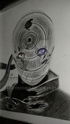 Obito Uchiha by NefyRicher on DeviantArt Naruto Eyes, Naruto Art, Naruto Tattoo, Anime Tattoos, Madara Uchiha, Sasuke, Manga Art, Anime Art, Naruto Drawings