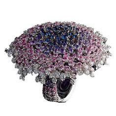Sapphires, diamonds, white gold by Palmiero
