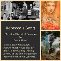 Rebecca's Song, set in 1905, is a story about a small-town teacher and a railroad detective who must decide how they'll care for three young orphans who need them both. Discussion questions included.