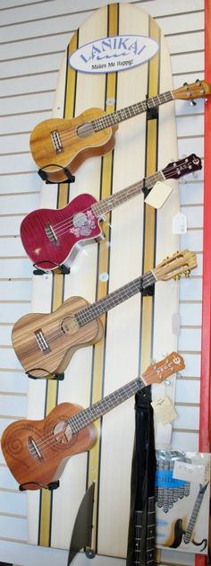 ukuleles ~ my son-in-law bought one when we went to Maui.