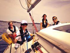 smiling girl sailing @cvccaprera #girlsailing #sail #smile